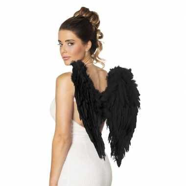 Engelen vleugels zwart 50 cm