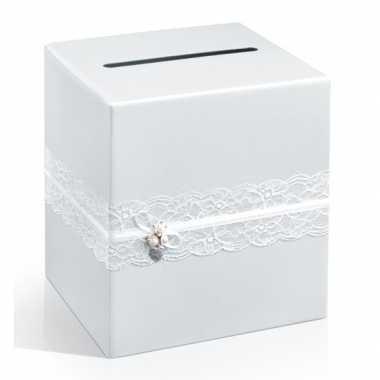 Enveloppen kubus met kant