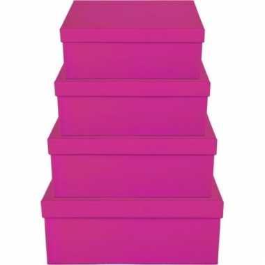 Etalage versiering roze cadeauverpakking doosje 8 cm