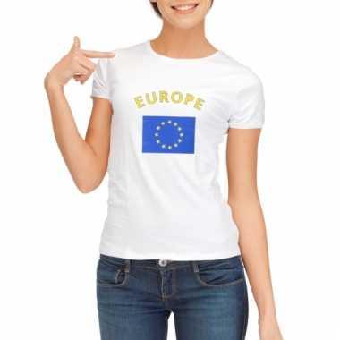 Europese vlaggen t-shirt voor dames