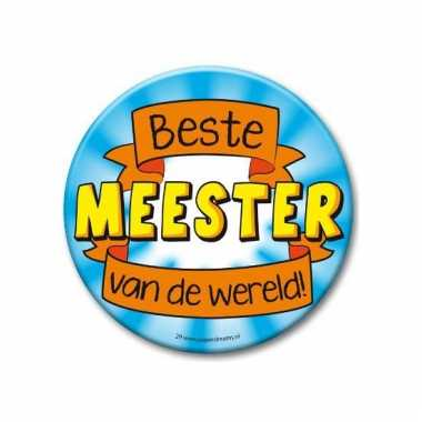 Extra grote button beste meester 10 cm