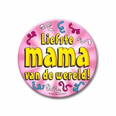 Extra grote button liefste mama 10 cm