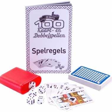 Familie spellen 100 kaart en dobbelspelletjes