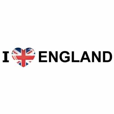 Fan sticker england van papier