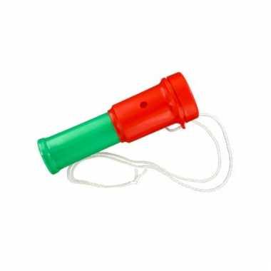Fan toeter in de kleur rood/groen