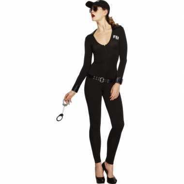 Fbi catsuit zwart voor dames