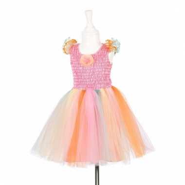 Feeen jurkje roze met gekleurde tutu