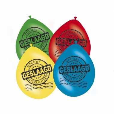 Feest ballonnen hoera geslaagd 16x