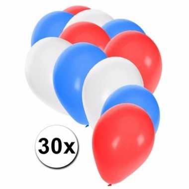 Feest ballonnen in de kleuren van australie 30x