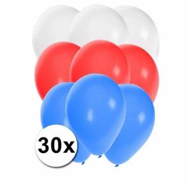 Feest ballonnen in de kleuren van rusland 30x