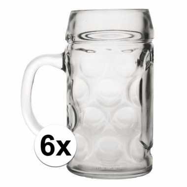 Feest bierpullen 0,5 liter 6 stuks
