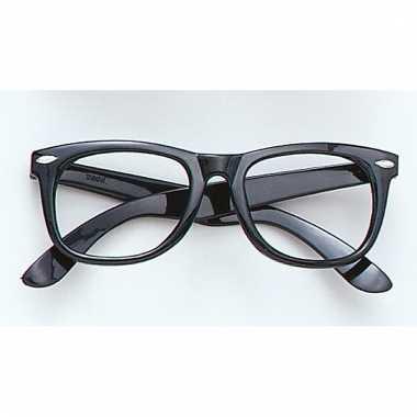 Feest bril zonder glazen zwart