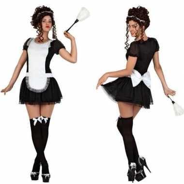 Feest/carnaval kamermeisje/schoonmaakster verkleedoutfit voor dames