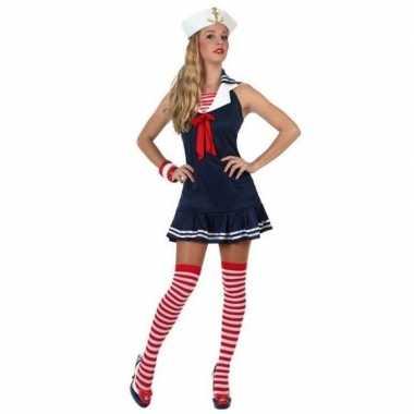 Feest/carnaval matrozen verkleedoutfit jurkje voor dames