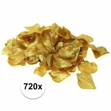 Feest decoratie rozen blaadjes goud 720 stuks