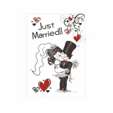 Feest decoratiebord huwelijk 35 x 55 cm