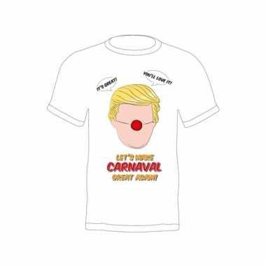 Feest donald trump shirt make carnaval great again