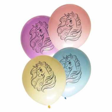 Feest eenhoorn ballonnen 30 cm