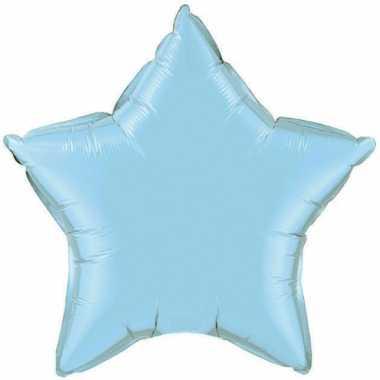 Feest folieballon blauw sterretje 50 cm