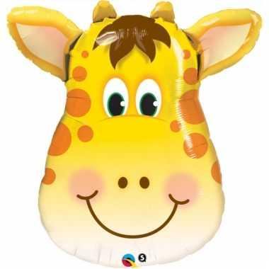 Feest folieballon giraffe 81 cm