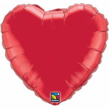 Feest folieballon rood hartje 45 cm
