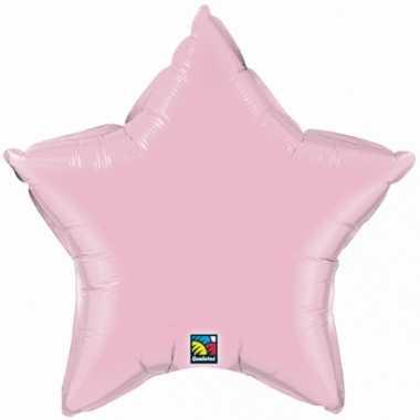 Feest folieballon roze sterretje 50 cm