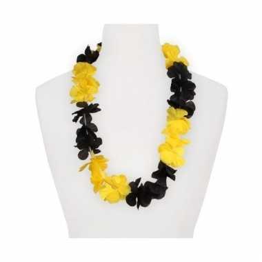 Feest hawaii slingers geel/zwart