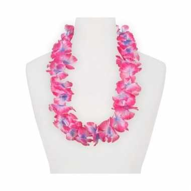 Feest hawaii slingers roze/paars