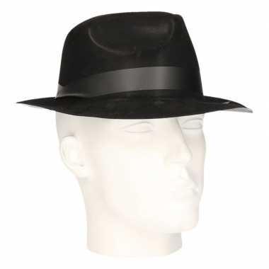 Feest hoed hazes zwart voor volwassenen