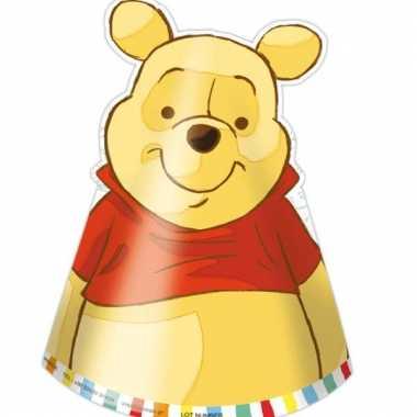 Feest hoedjes poeh beer zes stuks