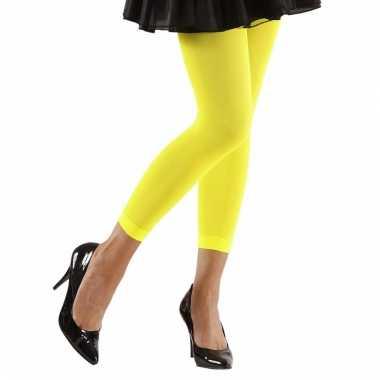 Feest legging neongeel voor dames