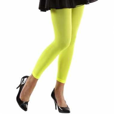 Feest legging neongroen voor dames