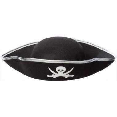 Feest piraat hoeden zwart voor volwassenen
