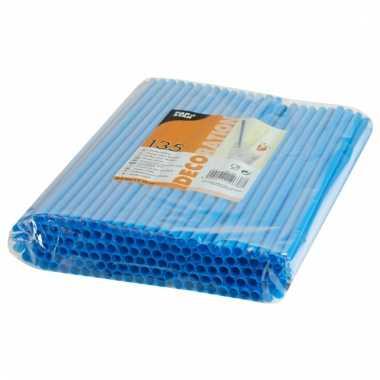 Feest rietjes blauw kleurig 25 cm 135 stuks