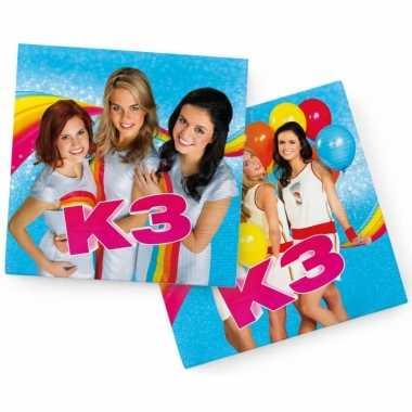 Feest servetten verjaardag k3