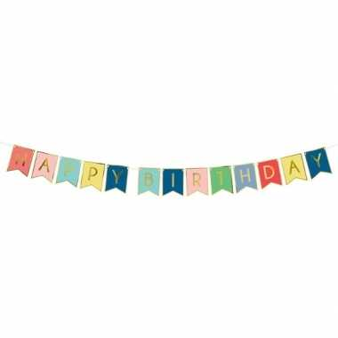Feest slinger gekleurde vlaggetjes verjaardag