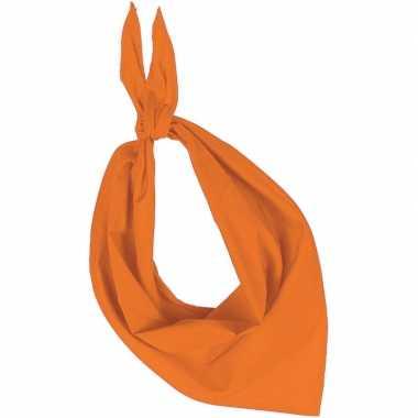 Feest/verkleed oranje bandana zakdoek voor volwassenen