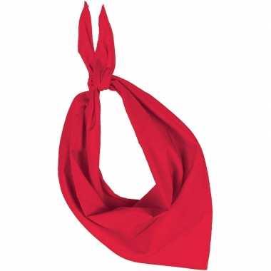 Feest/verkleed rode bandana zakdoek voor volwassenen