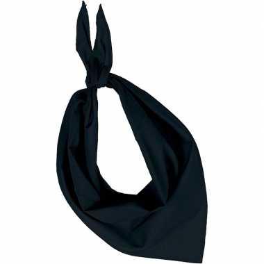 Feest/verkleed zwarte bandana zakdoek voor volwassenen