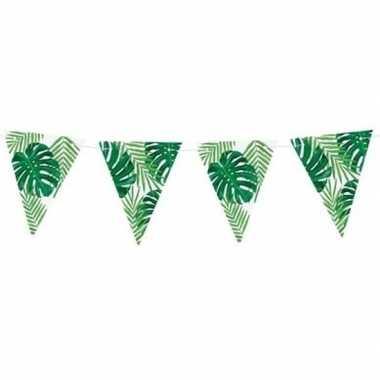 Feest vlaggenlijn tropisch/jungle feestje 150 cm
