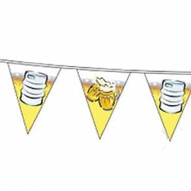 Feest vlaggenlijnen met bier 10 meter