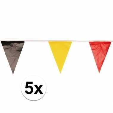 Feest vlaggenlijnen/slingers belgi? 10 meter 5 stuks