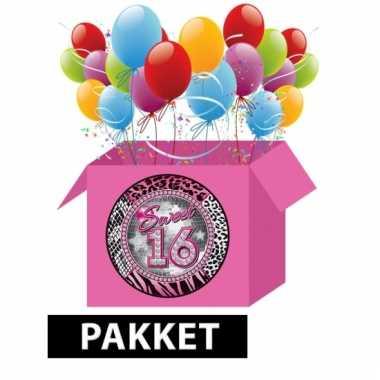 Feest voordeelpakket voor 16de verjaardag