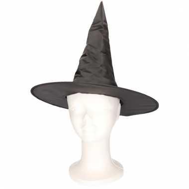Feest zwart heksenhoedje voor kinderen