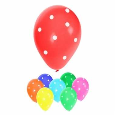 Feestartikelen ballonnen met stippen