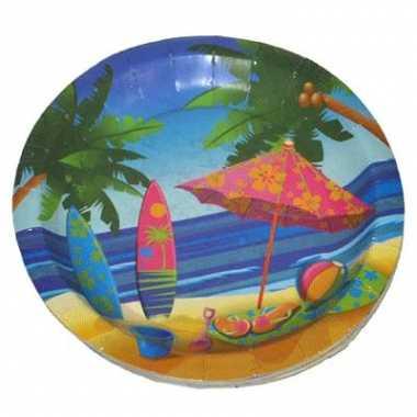 Feestbordjes hawaii thema 23 cm