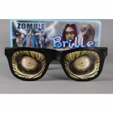 Feestbril enge zombie ogen