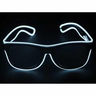 Feestbril met witte led verlichting