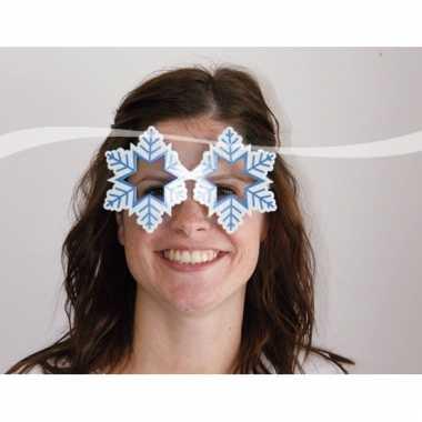 Feestbril sneeuwvlokken