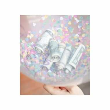 Feestelijke confetti hartjes ballonnen 10 stuks